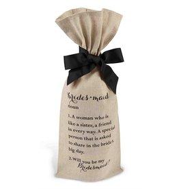 Mud Pie BRIDESMAID Wine Bag