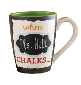 Mud Pie Chalkboard Mug - WHEN TEACHER CHALKS