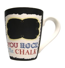 Mud Pie Chalkboard Mug - YOU ROCK THE CHALK