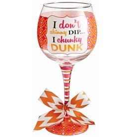 Mud Pie Chunky Dunk Wine Glass