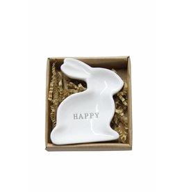 Mud Pie HAPPY Bunny Mini-plate