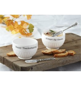 Mud Pie HAPPY THANKSGIVING Dip Cup Set