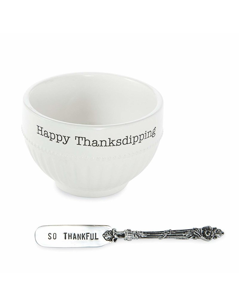 Mud Pie HAPPY THANKSGIVING Dip Cup Set