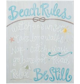 BEACH RULES montage canvas