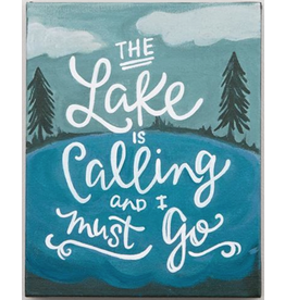 LAKE IS CALLING 8x10 canvas