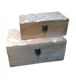 MIDWEST CBK Carved Wooden Box Set (2-pc)