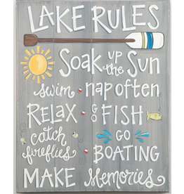LAKE RULES Montage Canvas