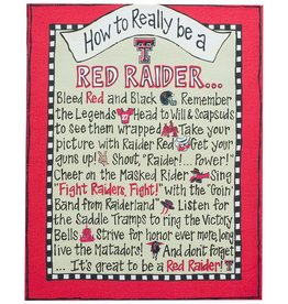 RED RAIDER Canvas Frame