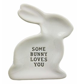 Mud Pie SOME BUNNY LOVES YOU Mini-plate