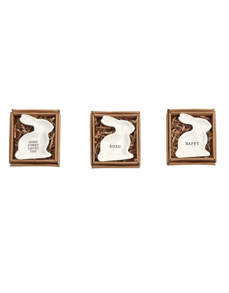 Mud Pie XOXO Bunny Mini-plate
