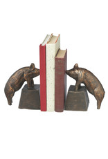 MIDWEST CBK Antique Gold Pig Bookends