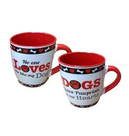DENNIS EAST INTERNATIONAL INC Jumbo Stoneware DOG Mug (24 oz)