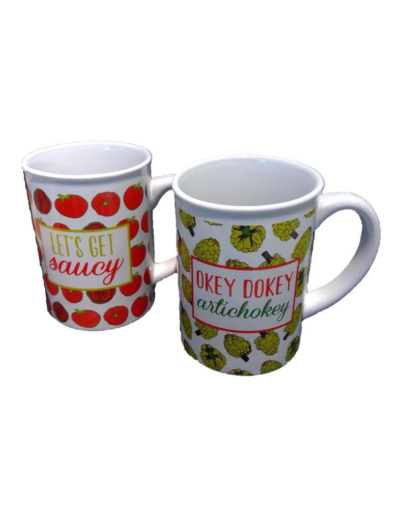 Artichoke/Tomato Mug (22 oz)