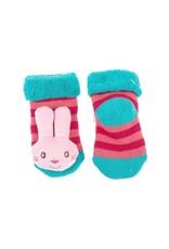 Bunny Rattle Baby Socks