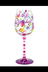 Top Shelf Wine Glass - SIP SIP HOORAY