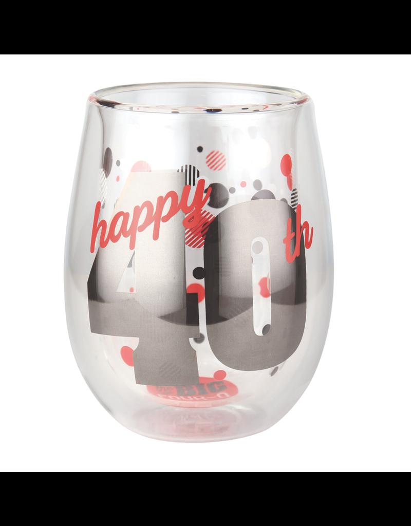 Top Shelf Stemless Wine - 40th BIRTHDAY