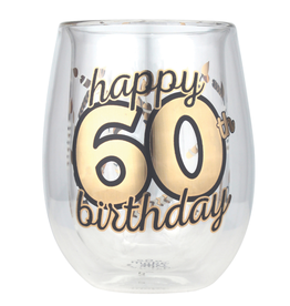 Top Shelf Stemless Wine - 60th BIRTHDAY