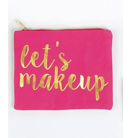 8 Oak Lane LET'S MAKEUP Canvas Pouch