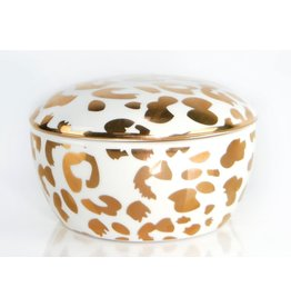8 Oak Lane Leopard Porcelain Trinket Box