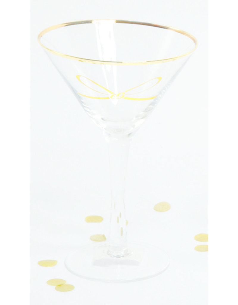 8 Oak Lane Martini Glass with Gold Bow
