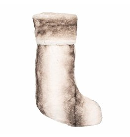 8 Oak Lane Luxe Faux Fur Stocking (Grey)