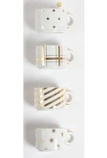 8 Oak Lane Mug Tower Set - White & Gold