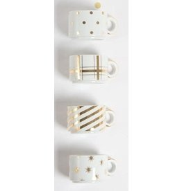 8 Oak Lane Mug Tower Set - White & Gold