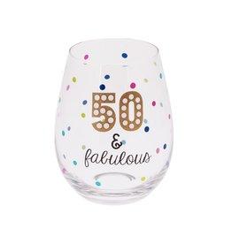 MIDWEST CBK 20 oz Stemless Wine - 50 & FABULOUS