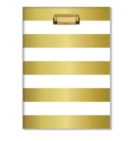 C R Gibson Golden clipboard/notepad