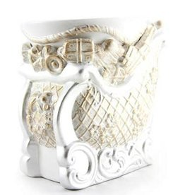 Tyler Candle Company Brushed White/Gold Sleigh Fragrance Warmer