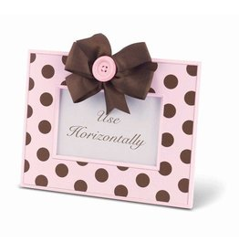 FANCY THAT FRAME Pink w/ Chocolate Dots Frame