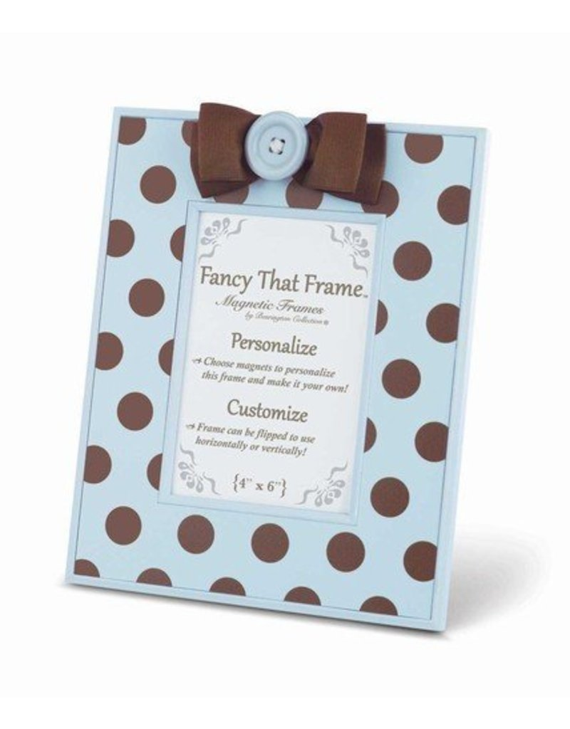 FANCY THAT FRAME Blue w/ Chocolate Dots Frame