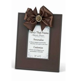 FANCY THAT FRAME Chocolate Linen Frame