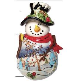 Blue Sky Night Before Christmas Cookie Jar