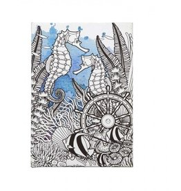 C R Gibson Under The Sea Coloring Journal
