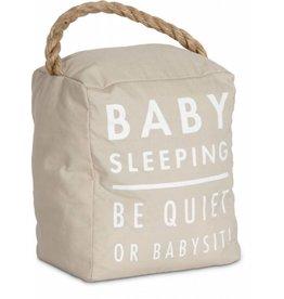 Baby Sleeping 5x6 Door Stopper