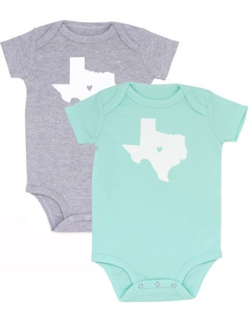 About Face Designs Texas Onesie (9-12 m) Gray