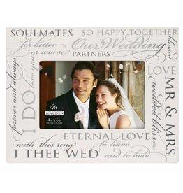 Malden 4x6 OUR WEDDING Silver Signature