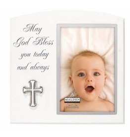 Malden 4x6 MAY GOD BLESS w/metal cross