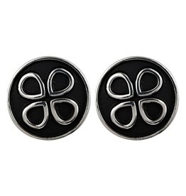 Anna Nova Reflections Earrings - Black & Silver