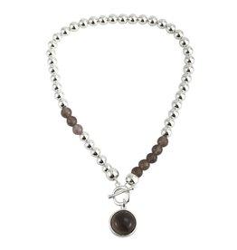 Anna nova Reflections necklace grey beads
