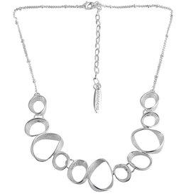 Anna nova Reflections Necklace Silver hoops design