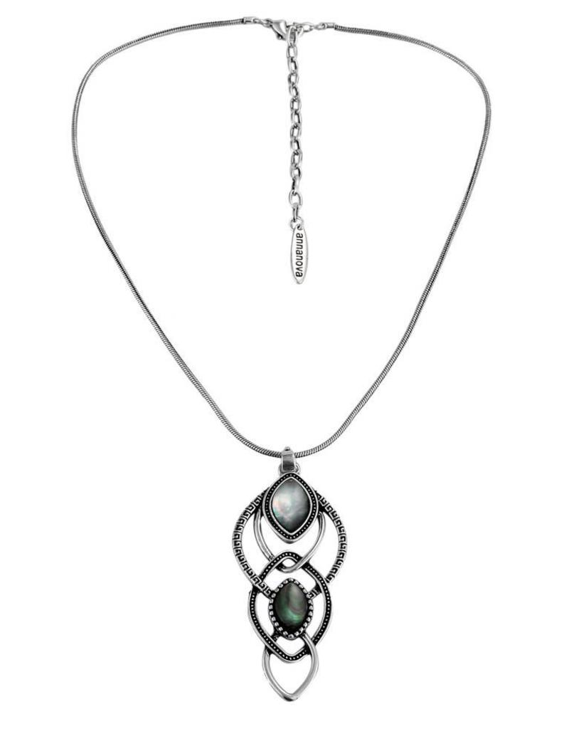 Anna Nova Reflections Necklace - Silver