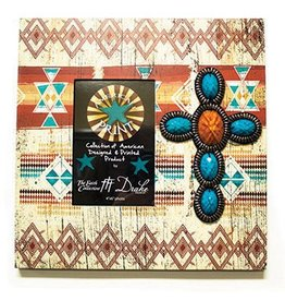 DRAKE DESIGN Layered Photo Frame - Tribal w/Beads