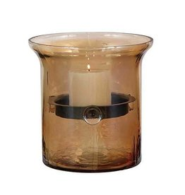 UMA ENTERPRISES INC. Glass & Metal Candle Holder