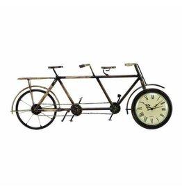 UMA ENTERPRISES INC. Metal Double's Bicycle Clock