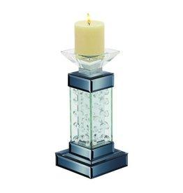 UMA ENTERPRISES INC. Glass Candle Holder 5''W,11''H