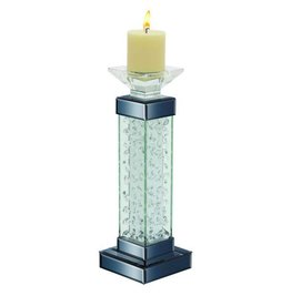 UMA ENTERPRISES INC. Glass Candle Holder  5''W,15''H