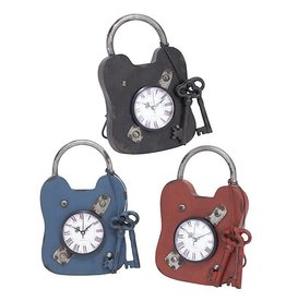 UMA ENTERPRISES INC. Metal Padlock Clock 7''W,10''H
