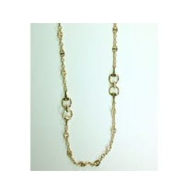 "Fossick Imports 36"" Stirrup Necklace - Gold"
